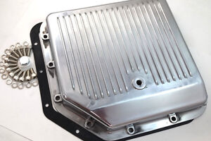 Chevy Aluminum Finned Polished Th 350 Th350 Turbo 350 Transmission Pan Trans