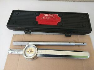 Craftsman Dial Indicating Torque Control Wrench 9 44442 1 2 Drive