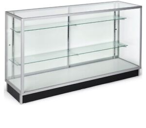 Extra Vision Showcase 6 Long glass Display Case retail Display Case