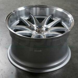 Aodhan Ds02 18x10 5 5x114 3 15 Silver Machined Face Wheels 18 Inch Rims Set 4