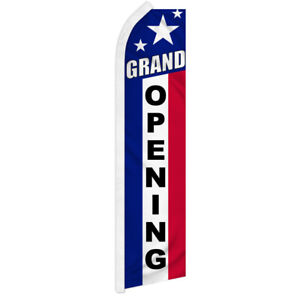 Grand Opening Advertising Flag Swooper Feather Super Flag Open Now Patriotic