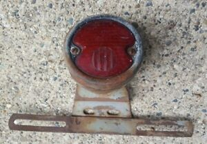 Antique Vintage Grotelite T 10 License Plate Tail Light W Mounting Bracket