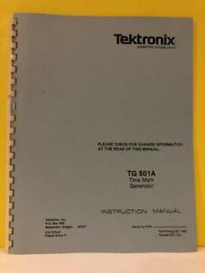 Tektronix 070 7373 00 Tg 501a Time Mark Generator Instruction Manual
