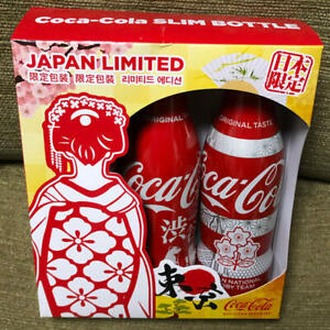 Coca-Cola slim bottle set of 3 limited edition Olympic Shibuya rugby from japan!