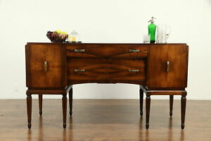 French Art Deco Antique Rosewood Sideboard Server Or Buffet 31817
