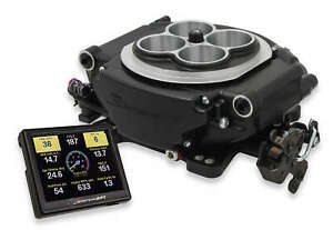 Holley Sniper Black 4 Barrel Fuel Injection Conversion Self tuning Kit 550 511