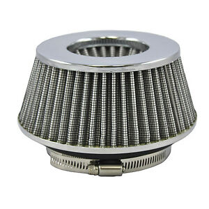 Small White Universal Cone Intake Air Filter 2 65 L X 6 W Inlet 3 3 5 Or 4