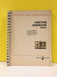 Hp 03310 90003 Model 3310a 3310b Function Generator Operating And Service Manual