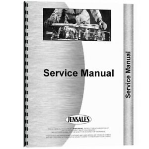 New Massey Ferguson 3090 Combine Tractor Engine Service Manual