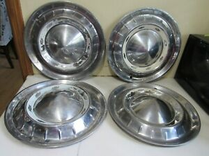 Vintage Set Of 4 1955 Chevy Bel Air Hubcaps