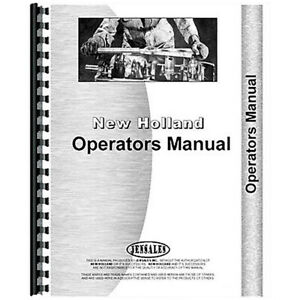 Operator s Manual For Holland 456 Attachment sickle Bar Mower