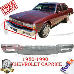 Front Bumper Chrome Steel For 1980 1990 Chevrolet Caprice Impala Parisienne