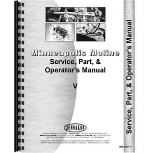 Minneapolis Moline V Tractor Operators Manual