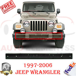 Front Bumper Steel W Guard Holes For 1997 2006 Jeep Wrangler tj