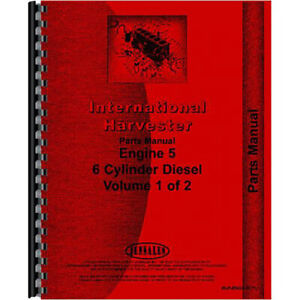 New International Harvester 412b Tractor Engine Parts Manual