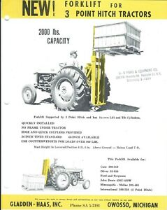 Fork Lift Truck Ad Gladden haas Forklift For 3 Point Hitch Tractors lt382