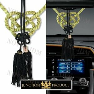 Vip Charm Junction Produce Fusa White Kiku Jp Knot Gold Bk Kin Tsuna Rope Jdm