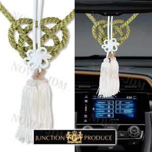 Vip Style Charm Junction Produce Fusa White Kiku Jp Knot Gold Kin Tsuna Rope Jdm