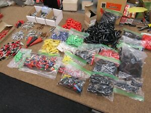 Huge Lot Mueller Alligator Clips Clamps And Insulators Nos Test Equipment