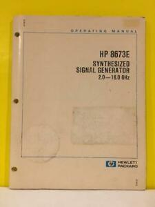 Hp 08673 90053 8673e Synthesized Signal Generator 2 0 18 0 Ghz Operating Manual
