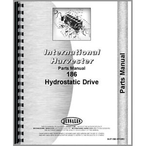 New International Harvester 186 Tractor Parts Manual