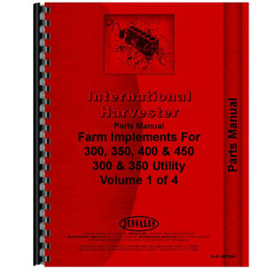 New International Harvester 350 Implement Parts Manual