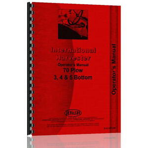 Ih o 70plow New Operators Manual Made For Case ih Bottom Pull Plow Models