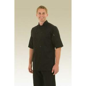 Chef Works Chambery Chef Coat Jacket Black All Sizes