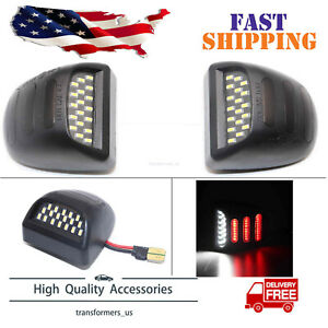 Red Oled Neon Tube Led License Plate Light Lamp Fit For 99 13 Chevy Silverado