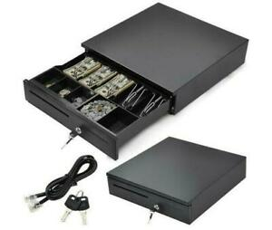 5 Bill 5 Coin Commercial Use Compartment Cash Box Pos Printers Black