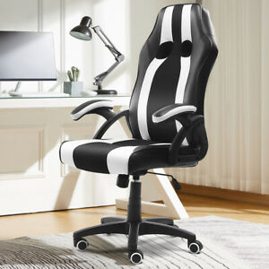Executive Office Chair Swivel Gaming Racing Recliner Computer Seat Pu Leather
