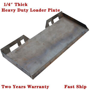 1 4 Skid Steer Mount Plate Quick Tach Loader Mounting Hitch For Bobcat