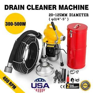 3 4 5 drain Cleaner Sectional Sewer Snake Drain Auger Cleaning Machine 500w