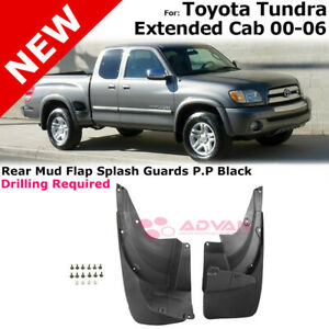 Left Right Rear Splash Guards For 00 06 Toyota Tundra Extended Cab Mudguard Pair