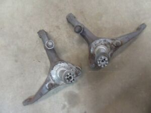 1958 Ford Fairlane 500 Exterior Front Steering Spindle Pair Set Stock Parts