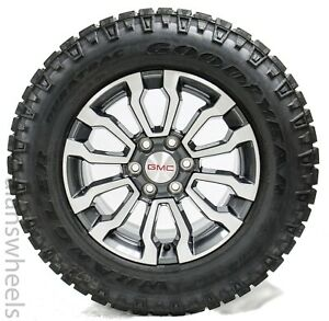 4 New Takeoff Gmc At4 Sierra Yukon Denali 18 Wheels Rims Duratrac At Tires 5909