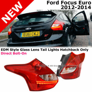 For Ford Focus Hatchback 12 14 Euro Edm Style Led Tail Light Conversion Red Lens