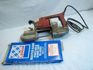 Milwaukee Band Portable Bandsaw Model 6225 Saw Tool With Blades