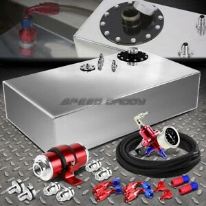 17 Gallon Top feed Fuel Cell Tank line Kit pressure Regulator inline Filter Red
