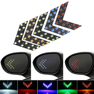 2x Car Auto Side Rear View Mirror 14 Smd Led Lamp Turn Signal Lights Accessories