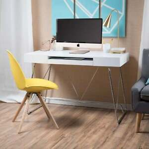 Heinrik Wood Computer Desk With Keyboard Tray By Christopher White Small