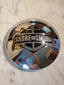 Vintage Shore Station Boat Trailer Hub Cap Hubcap Wheel Cover Anchor Man Cave 2