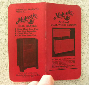 1947 48 Majestic Coal Wood Gas Ranges Stoves Heaters Advertising Booklet