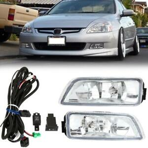 Fog Light Front Bumper Driving Lamp wiring Switch Kit For Honda Accord 2003 2007