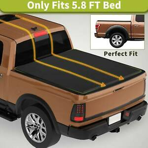Soft Folding Tri Fold Truck Bed Tonneau Cover Fit For 09 19 Dodge Ram 1500 5 8ft
