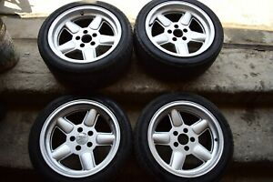 Rare Oz Ac Schnitzer Type 1 3101a Wheels 8 5x17 Bmw Z3 E34 E36 Oem Rims
