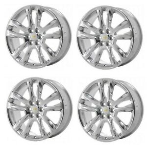 20 Chevy Traverse 2018 2019 New Factory Oem Polished Alloy Wheels Rims Set 5847