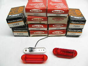X15 Vintage Signal Stat 1522 Red Side Marker Lights T L 26312r