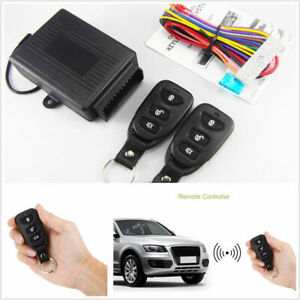 Universal Auto Car Remote Central Door Lock Kit Keyless Entry System Alarm