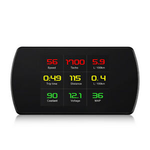 P12 Automobile Universal Obd Car Gps Head Up Display Overspeed Warning System